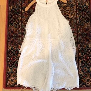 Lilly Pulitzer white lace romper size 8